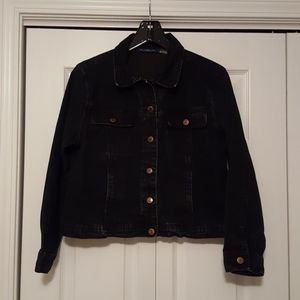 Bill Blass Jeans black denim jacket size PL